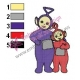 Teletubbies Tinky Winky with Po Embroidery Design