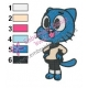 The Amazing World of Gumball Embroidery Design 03