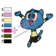The Amazing World of Gumball Embroidery Design 05