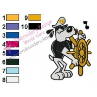 The Captain Dudley Puppy Embroidery Design