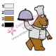 The Chef Squirrel Embroidery Design