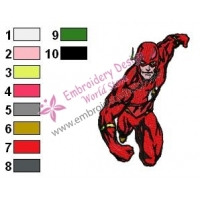 The Flash Wally West Teen Titans Embroidery Design