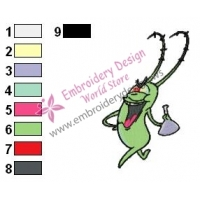 The Inventor Plankton Embroidery Design