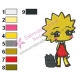 The Kid Lisa Simpson Embroidery Design