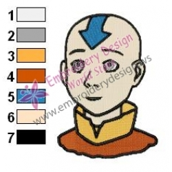 The Last Airbender Embroidery Design 02