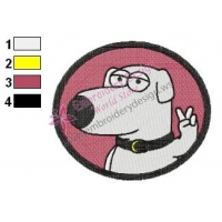 The Victory Brian Family Guy Embroidery Design