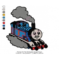 Thomas the Train Embroidery Design 03