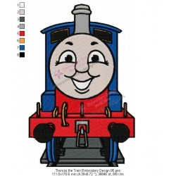 Thomas the Train Embroidery Design 05