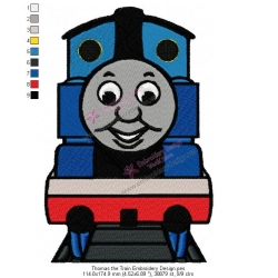 Thomas the Train Embroidery Design