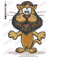 Tiger Surprised Embroidery Design
