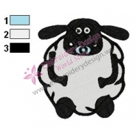Timmy Shaun The Sheep Embroidery Design 02