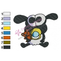 Timmy Shaun The Sheep Embroidery Design 03