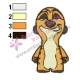 Timon Kid Embroidery Design