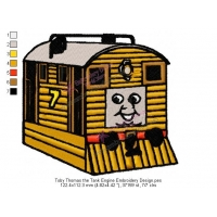 Toby Thomas the Tank Engine Embroidery Design