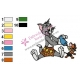 Tom and Jerry Embroidery Design 08