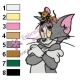 Tom and Jerry Embroidery Design 34