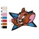 Tom and Jerry Logo Embroidery Design