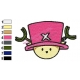 Tony Tony Chopper Face Embroidery Design