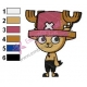 Tony Tony Chopper One Piece Embroidery Design 02
