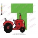 Tractor T Alphabet Embroidery Designs