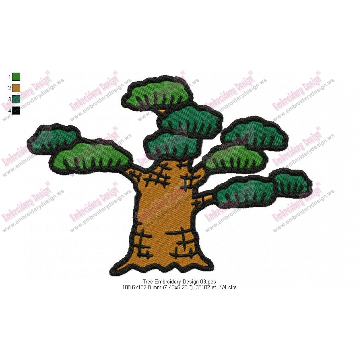 Tree embroidery pattern patterns gallery tree online cross stitch patterns bankloansurffo Choice Image