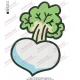 Turnip Vegetable Embroidery Design