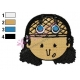 Usopp Face One Piece Embroidery Design