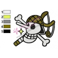 Usopp Flag One Piece Embroidery Design