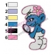Vanity Smurf Embroidery Design 02