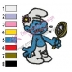 Vanity Smurfs Embroidery Design