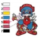 Veemon Card Captor Embroidery Design