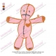 Voodoo Doll Toy Cartoon Character Embroidery Design