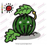 Watermelon Fruit in Hot Day Embroidery Design