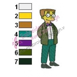 Waylon Smithers Simpsons Embroidery