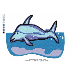 Whale Embroidery Design 02
