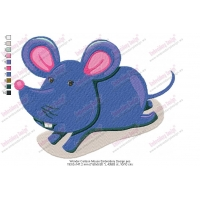 Wonder Cartoon Mouse Embroidery Design