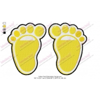 Yellow Feet Embroidery Design