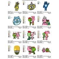 Yo Gabba Gabba Embroidery Designs Collections 02