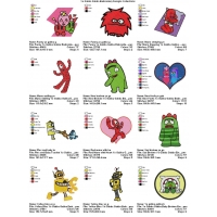 Yo Gabba Gabba Embroidery Designs Collections 06