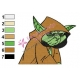 Yoda Star Wars Embroidery Design