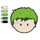 Zoro Face One Piece Embroidery Design