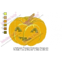a Halloween Pumpkin Embroidery Design