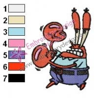krabs SquarePants Embroidery Design 02