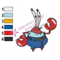 krabs SquarePants Embroidery Design